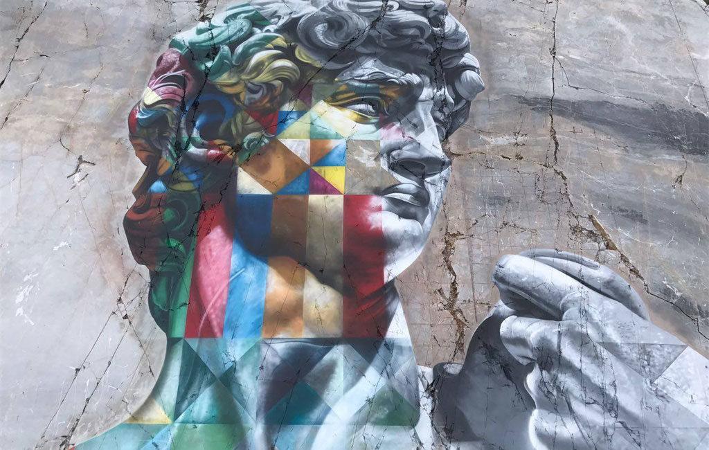 Il murales di Eduardo Kobra del David
